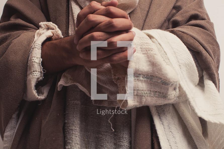 Joseph with praying hands