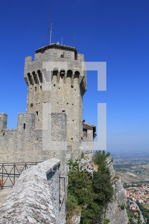 a tower on a castle