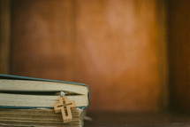 cross bookmark in a Bible