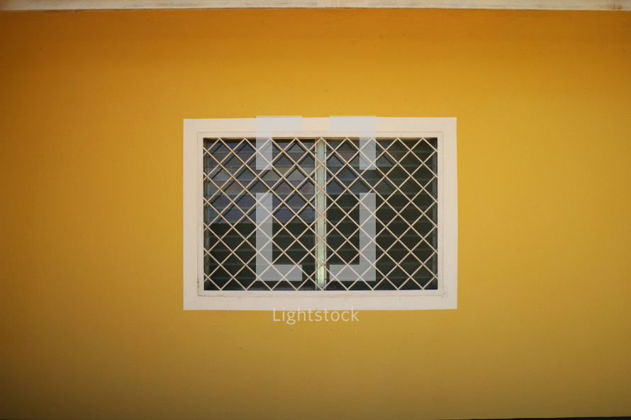 patterned window pane