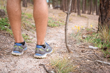 hiking a path