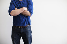 angry man with folded arms