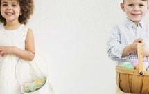children holding Easter baskets