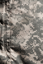 camouflage uniform closeup