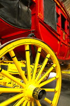 wagon wheel and carriage