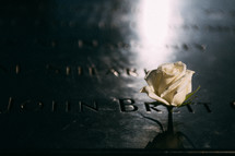 rose on a memorial