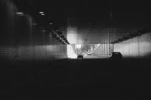 cars going through a tunnel
