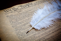 We the People and feather pen, constitution