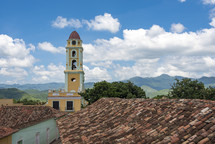 roof tiles and bell tower