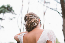 brides braided hair