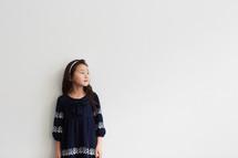 a girl child in studio