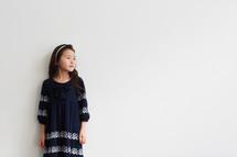 a girl in studio