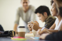 discussions during a young adult study group session