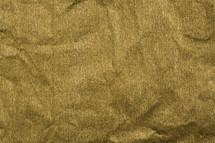 gold crinkled paper