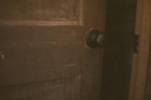 A door cracked open