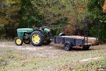 tractor hay ride for fall