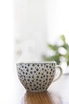 tea cup on a table
