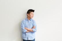 Asian boy child in studio