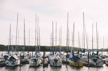 boats docked at a marina
