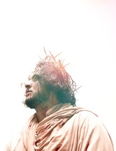 portrait of Jesus with crown of thorns