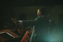 preacher giving a sermon