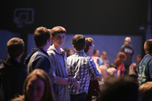 youth gathered at a teen rally