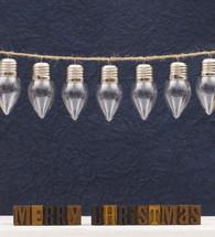 clear glass bulbs on a string