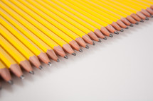 pencil leads in a row