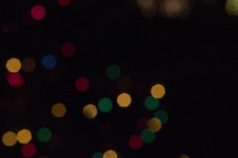 glowing bokeh Christmas lights