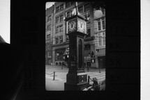 vintage photograph of an old clock