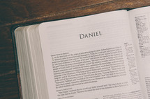 Bible opened to Daniel