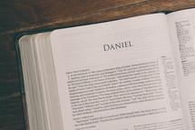 Bible opened to Daniel