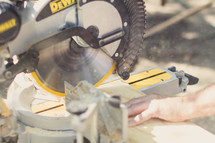 cutting wood with a table saw