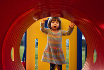toddler girl on a playground