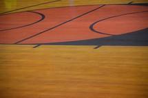floor of a basketball court