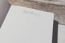 A goals list