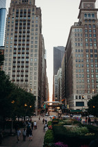 pedestrians walking on city sidewalks