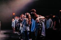 praying audience