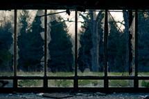 broken glass in windows