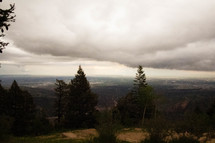 thick clouds over a mountaintop