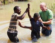 baptism in a pond