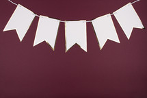 blank banner on maroon