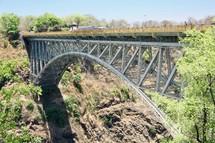 Victoria Falls Bridge Spans the Zambezi River
