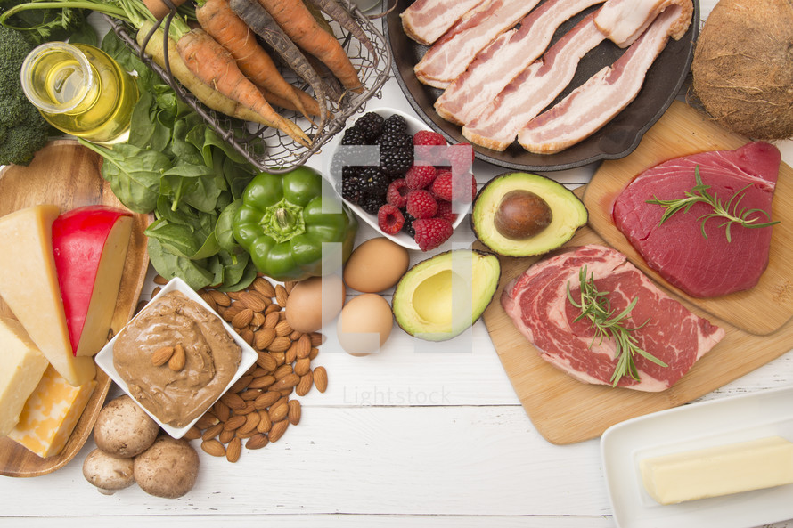 Various Foods that are Perfect for High Fat, Low Carb Diets such as Keto