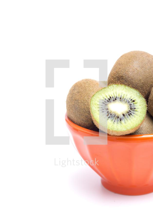 bowl of kiwi fruit