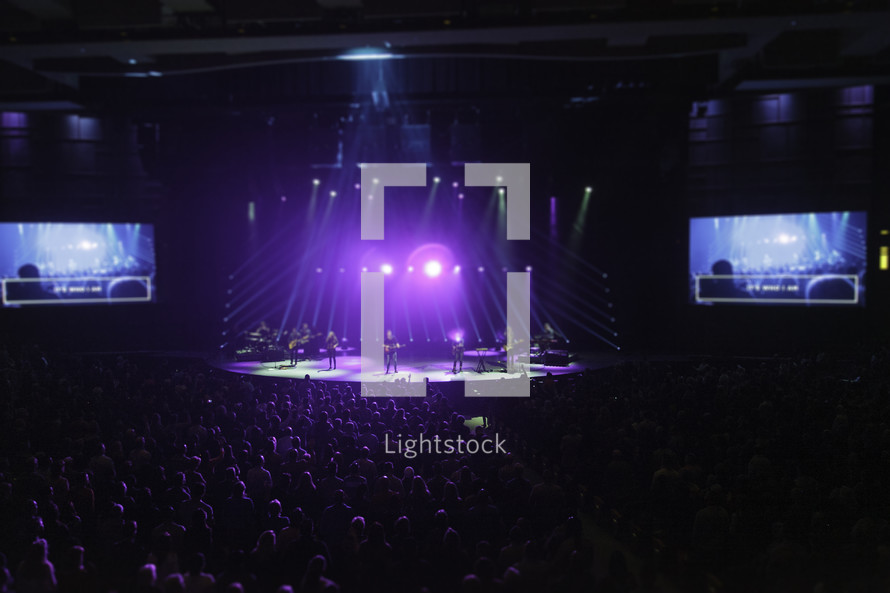 spotlights over a stage