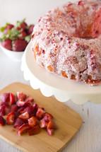 Glazed Strawberry Bunt Cake