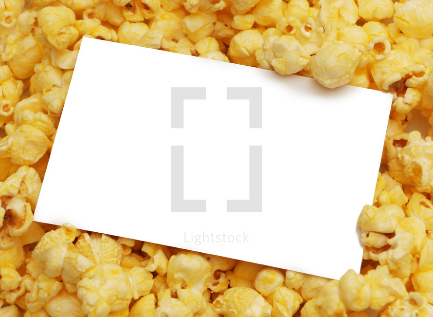 white sign in popcorn