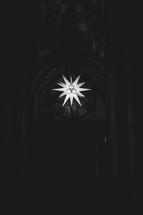 star light in a church