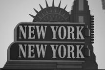 New York, New York sign in Las Vegas, NV